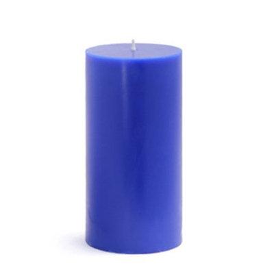Zest Candle Set of 12 Bulk Handpoured 3 x 6 Blue Pillar Candles