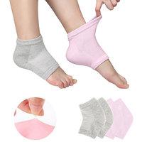 Breathable Moisturizing Gel Heel Socks Health & Beauty Spa Skin Care Gift Set - Pink & Grey