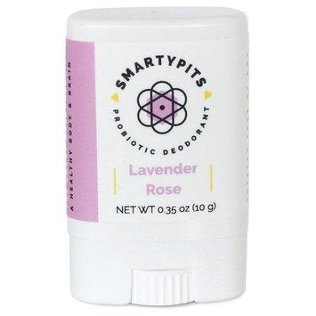 SmartyPits - Natural/Aluminum Free Prebiotic Deodorant (Baking Soda Free, Travel-Size) (Lavender Rose)