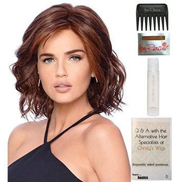 Bundle - 5 items: Editor's Pick by Raquel Welch, 15 Page Christy's Wigs Q & A Booklet, 2oz Travel Size Wig Shampoo, Wig Cap & Wide Tooth Comb - Color: SS1923