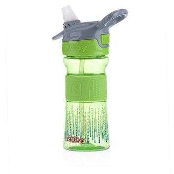 Luv N' Care, Ltd. Nuby Thirsty Kids 12oz Flip it Reflex with Soft Grip Cup, Green Lines