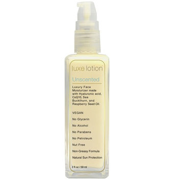 LuxeBeauty, Luxe Lotion, Luxury Face, Unscented, 2 fl oz (59 ml) [Scent : Unscented]