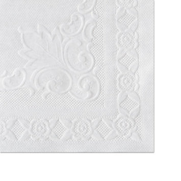 Classic Embossed Straight Edge Placemats, 10 x 14, White, 1000/Carton, Sold as 1 Carton, 1000 Each per Carton