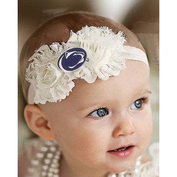 Penn State Nittany Lions Baby/ Toddler Shabby Flower Hair Bow Headband