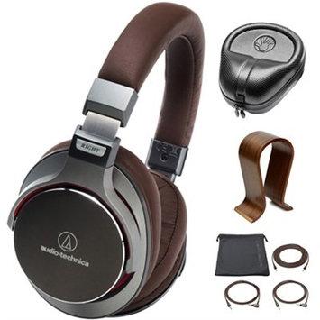 Audio-Technica SonicPro Over-Ear High-Res Audio Headphones Grey w/ Stand Bundle