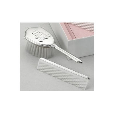 Empire Silver Empire Pewter Teddy Bear Girls Comb & Brush Set