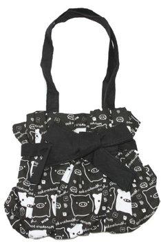 Clover Nom Nom Piggy Kawaii Small Hand Bag - Black