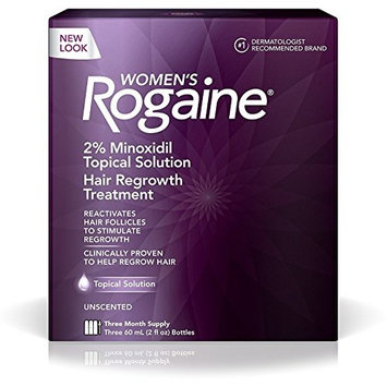 Rogaine Women's 3 Month Supply, Unscented 6 oz 3 ea (9 Pack)