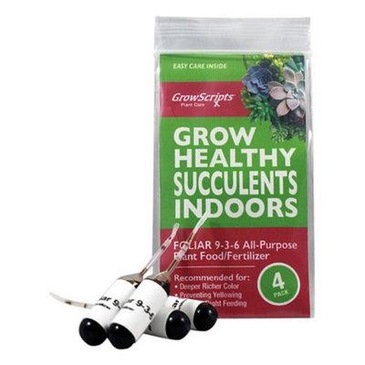 Growscripts Four Pack of Succulent Fertilizer Plant Food
