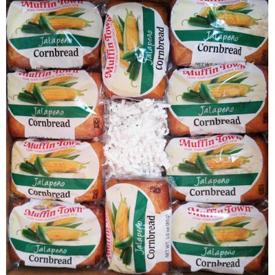 Muffin Town Jalapeno Cornbread Loaves, 3 oz, 20 count