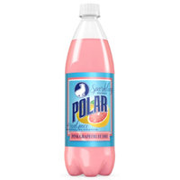 Polar Pink Grapefruit Dry Soda 1 L Plastic Bottles (Pack of 12)