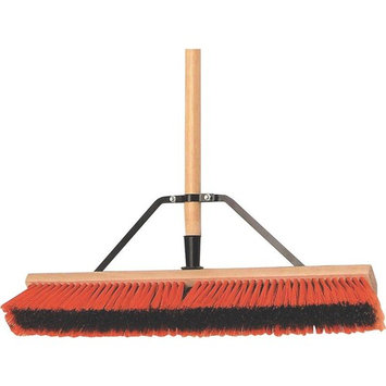 MintCraft Pro 1434AJOR Push Broom with Brace 24-Inch, Medium