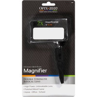 OPTX 20/20 Double Strength Bifocal Lens Magnifier, 1.0 OZ
