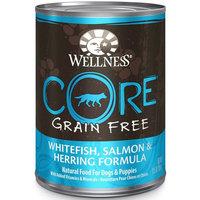 Wellness CORE Grain-Free Canned Adult Dog Food, Salmon, Whitefish, & Herring, 12.5 oz