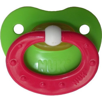 Gerber NUK Green with a Pink ring and NUK 5 nipple