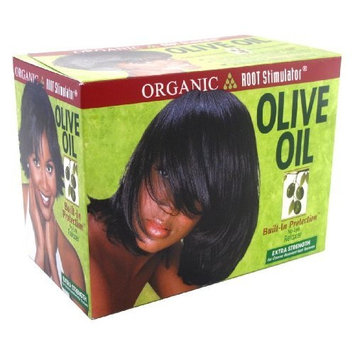Organic Root Stimulator Olive Oil Relaxer (Extra-strength) (3-Pack) with Free Nail File