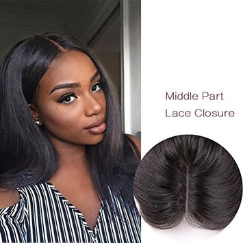 Lady Miranda 4×4 Middle Part Silky Straight Lace Closure Unprocessed Peruvian Human Hair Extension (10