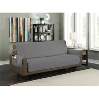 Kashi Home SC052208 Microfiber Furniture Protector with 5 in. Drop Strap & Side Pocket Sofa Gray