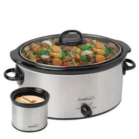 Premium 6 Quart Slow Cooker With 0.6 Quart Mini Dipper