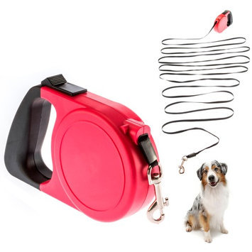Atb 26ft Pet Dog Puppy Automatic Retractable Traction Rope Walking Lead Leash 85lbs