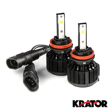Krator LED H11 Headlight Conversion Bulbs 40W 4000LM Light Bulb Xtra Bright 6000K White with Built-In Turbo Cooling Fan for 2014-2015 Harley Davidson FLHR Road King