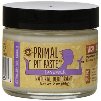 Primal Pit Paste Deodorant, 100% Natural, Aluminum, Paraben Free, No Added Fragrances, Lavender, 2 oz. []