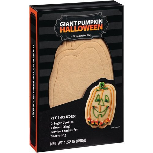 Create a Treat Halloween Giant Pumpkin Cookie Decorating Kit, 1.52 lb