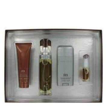 Perry Ellis M by Perry Ellis Men's Gift Set -- 3.4 oz Eau De Parfum Spray + 2.75 oz Deodorant Stick + 3.0 oz After Shave Gel + .25 oz Mini EDT Spray - 100% Authentic