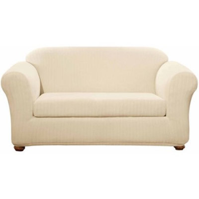 Sure Fit Stretch Pinstripe Loveseat Slipcover