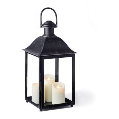 Napa Home and Garden Coach House 23 in. Outdoor Lantern Washed Gray