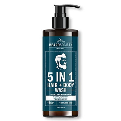Beard Society 5-in-1 Hair & Body Wash 32oz / 960ml