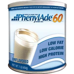 Applied Nutrition Corp PhenylAde 60 Drink Mix, 1335 Calories, Unflavored 454g Can
