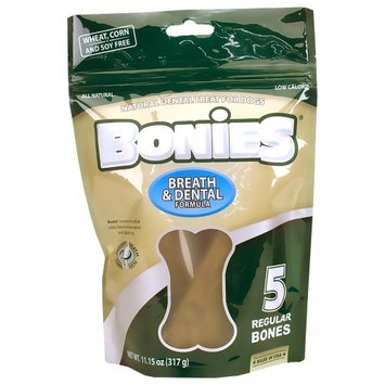 Green Dog BONIES Natural Dental Bones Multi-Pack REGULAR (5 Bones / 11.15 oz)