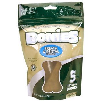 Green Dog BONIES Natural Dental Bones Multi-Pack REGULAR (5 Bones / 11.15 oz)