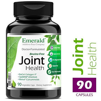 Joint Health - with BioCell Collagen II, Meriva & Opti MSM - Supports Joint Pain Relief, Healthy Cartillage, Mobility - Emerald Laboratories - 90 Vegetable...
