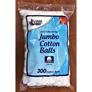 Cotton Balls 300 ct. Jumbo Size 100% Pure Cotton