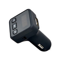 AGPtek Wireless In-Car Bluetooth FM Transmitter Radio Adapter Car Kit with LED Screen USB Car Charger