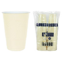 Hanna K Signature 2184698 16 oz Plastic Co-Ex Cup Ivory - Pack of 12 & 50 per Pack