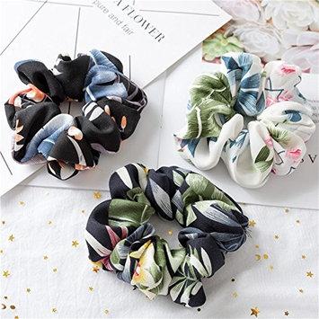 Set of 3 Pieces Large Women's Chiffon Flower Hair Scrunchies Hair Bow Chiffon Ponytail Holder