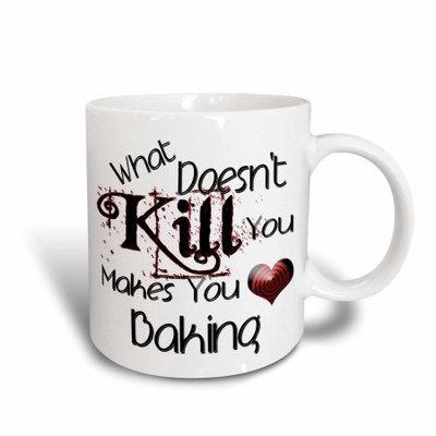 3dRose What Doesnt Kill You Baking, Ceramic Mug, 15-ounce