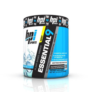 BPI Sports 9 Plant Based Oligopeptide Essential Aminos, Arctic Ice, 9.5 Ounce [Arctic Ice]