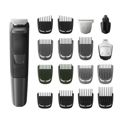Philips Norelco Multi Groomer MG5760/40-18 piece, beard, body, face, nose, and ear hair trimmer and clipper w/storage case [With Travel Case]
