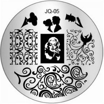 Grandsao 1Pc Good-looking Nail Art Stamping Decorations Image Stamp Multi Mix JQ-Series Type Code JQ05