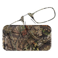 ThinOptics Reading Glasses + Universal Pod Case | Camouflage Collection, Mossy Oak Break-up Country, 2.00 Strength