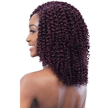 8 Inch 2x Ringlet Jumpy Wand Curly Braids Synthetic Hair Extension 6 Packs/Lot Jamaican Bounce African Collection Crochet Braiding Hair Natural Black Color []