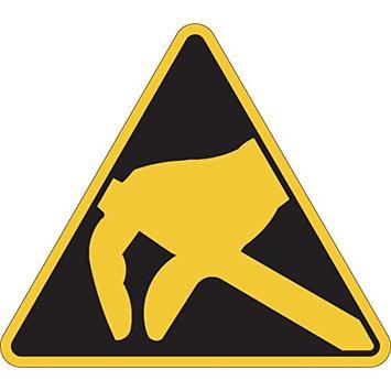 Brady 250630 Warning Laminated Polyester Sign, Triangle Warning