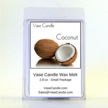 2 Coconut Vase Candle Melts 2.8 oz Premium Highly Scented Soy Paraffin Wax Tarts 50 Hours (Pack of 2)