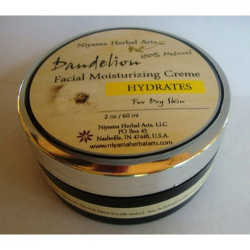Dandelion Facial Moisturizer, All Natural, Vegan, Organic, For Dry Skin