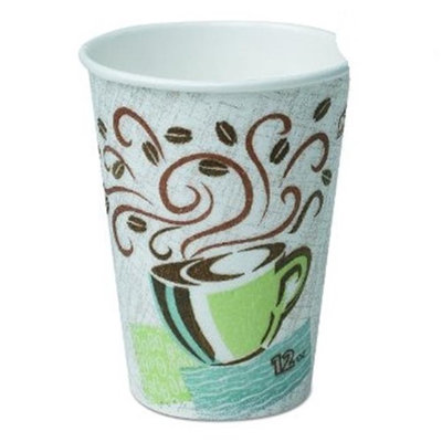 Dixie 5342CD CPC 12 oz Perfectouch Paper Hot Cup - Case of 1000