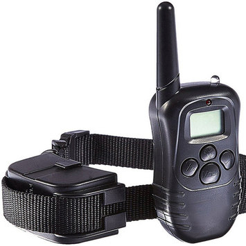 VicTsing Pet Train Collar LCD Electric 100LV Levels Shock Vibra Pet Dog Training Remote Control E-Collar (Black)